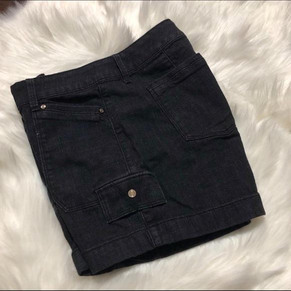 White House Black Market Pants - WHBM Black Denim Pocket Shorts Size 00